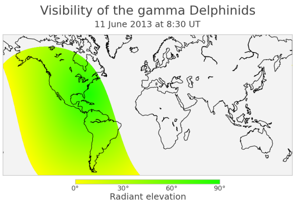 Visibility of the gamma-Delphinids 2013